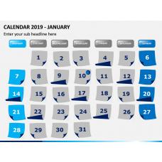 Calendar 2019 PPT Slide 1