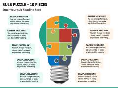 Bulb Puzzle – 10 Pieces PPT Slide 2