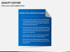 Quality Culture PPT Slide 6