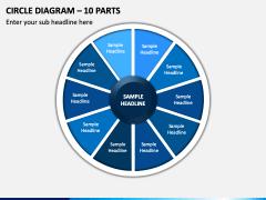 Circle Diagram – 9 Parts PPT Slide 1
