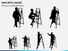 Man with Ladder PPT Slide 1