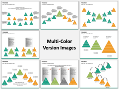 Triangle Shapes Multicolor Combined