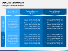 Executive Summary PPT Slide 1