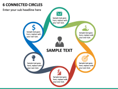 6 Connected Circles PPT Slide 2