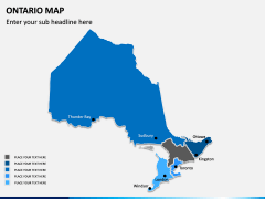 Ontario Map PPT Slide 7