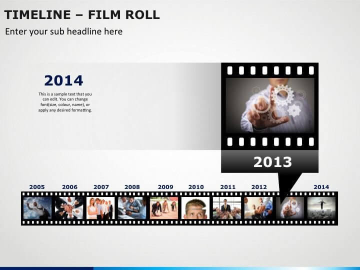 Timeline Film Roll PPT Slide 1