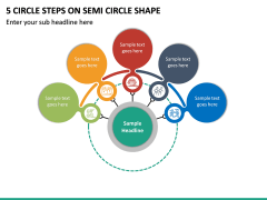 5 Circle Steps on Semi Circle Shape PPT slide 2