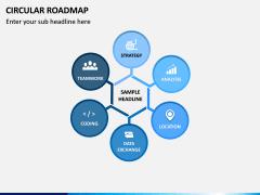 Circular Roadmap PPT Slide 6