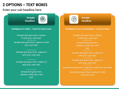 2 Options – Text Boxes PPT slide 2