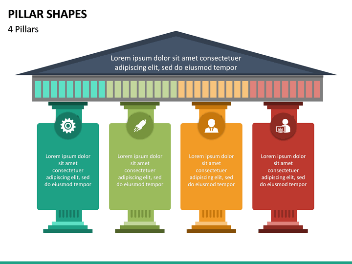 Pillar Shapes PowerPoint   SketchBubble