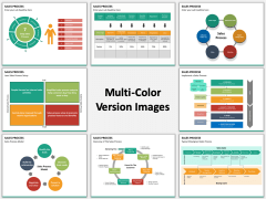 Sales process multicolor combined