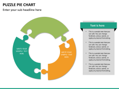 Puzzle pie chart PPT slide 16