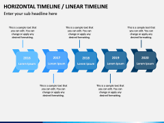 Horizontal Timeline PPT Slide 13