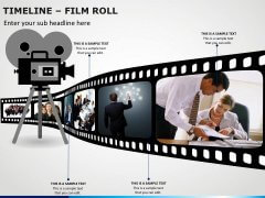 Timeline Film Roll PPT Slide 5