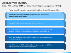 Critical Path Method PPT Slide 7