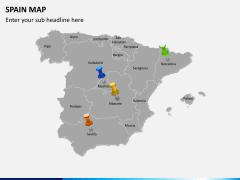 Spain map PPT slide 4