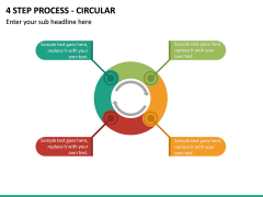 4 Step Process - Circular PPT slide 2