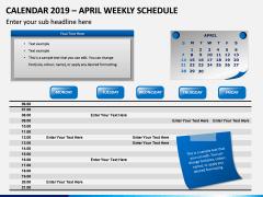 Calendar 2019 Weekly Schedule PPT Slide 4