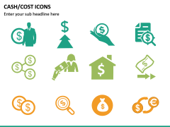 Cash Cost Icons PPT Slide 18