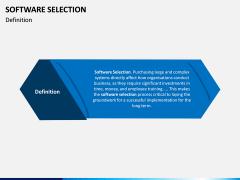 Software Selection PPT Slide 1