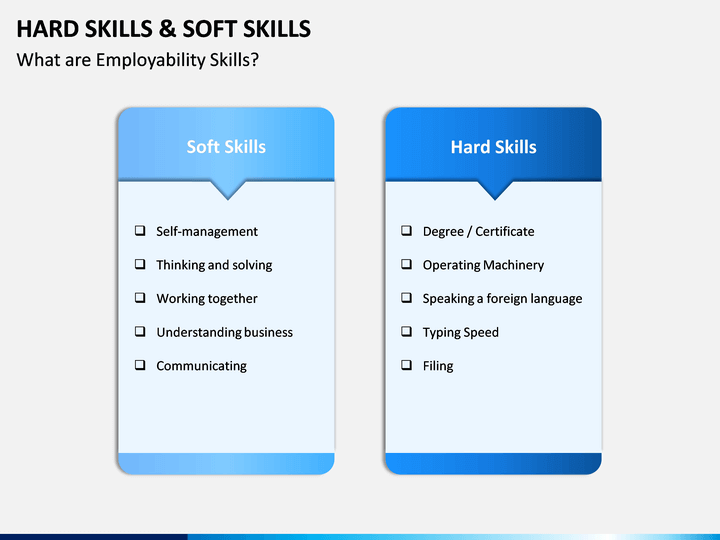 Hard Skills and Soft Skills PowerPoint Template | SketchBubble