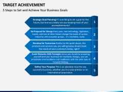Target Achievement PPT slide 9