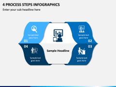 4 Process Steps Infographics PPT slide 1