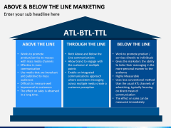Above and Below the Line Marketing PPT Slide 4