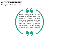 Credit Management PPT slide 18