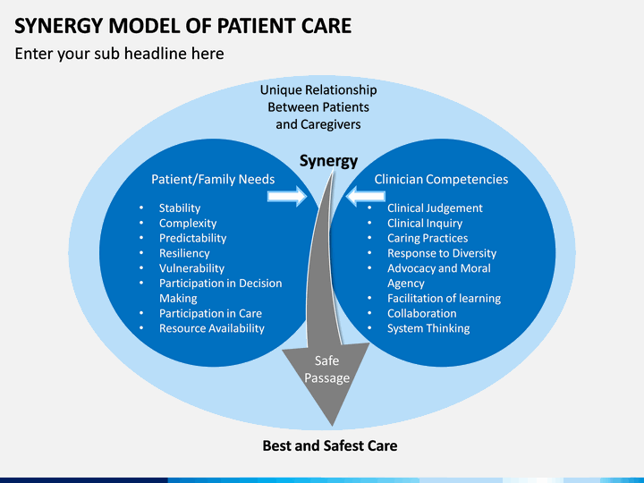Synergy Model Of Patient Care Powerpoint Template