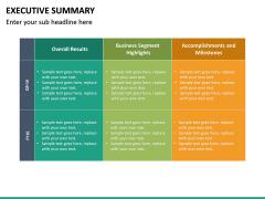 Executive Summary PPT Slide 33