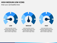 High Medium Low Icons PPT Slide 1