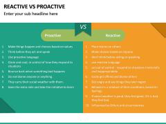 Reactive Proactive PPT Slide 24