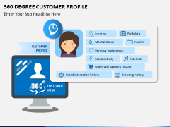 360 degree customer profile PPT slide 1
