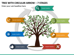 Tree With Circular Arrow – 7 Stages PPT Slide 2