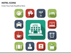 Hotel icons PPT slide 8