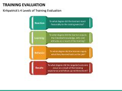Training Evaluation PPT Slide 16