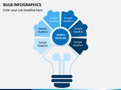 Bulb Infographics PPT Slide 12