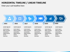 Horizontal Timeline PPT Slide 1