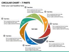 Circular Chart – 7 Parts PPT Slide 2
