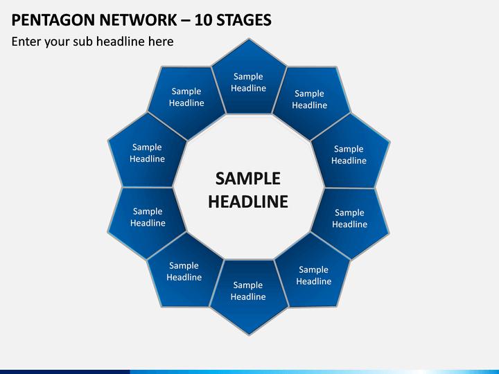 Pentagon Network – 10 Stages PPT Slide 1