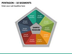 Pentagon – 10 Segments PPT Slide 2