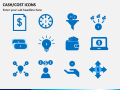Cash Cost Icons PPT Slide 7
