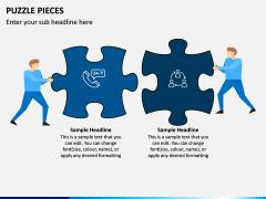 Puzzle pieces PPT slide 1