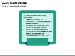 Value Based Selling PPT Slide 9