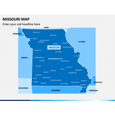 Missouri Map PPT Slide 1