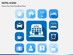 Hotel icons PPT slide 1
