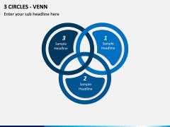 3 Circles - Venn PPT slide 1
