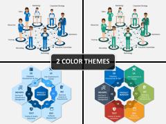 Cross functional teams PPT cover slide