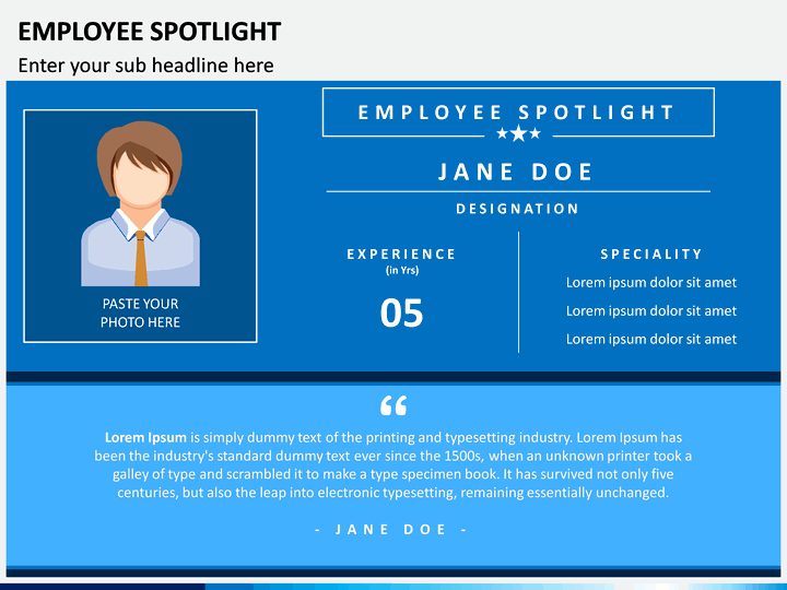 employee spotlight powerpoint template